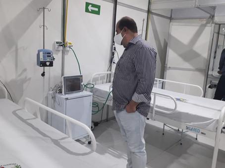 Renato Brandão apura denúncia de fechamento do Hospital de Campanha de Juazeiro