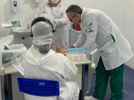 Juazeiro: Profissionais de saúde da rede especializada começam a ser testados para Covid-19