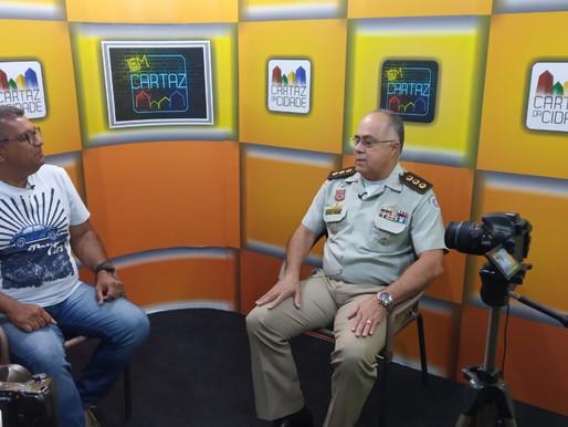 Cel PM Anselmo Bispo faz avaliação da segurança no Carnaval de Juazeiro 2020.
