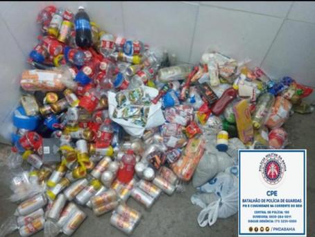 BG impede arremesso de 215 latas de cervejas para presidiários