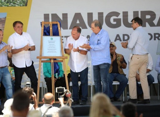 Bolsonaro inaugura obra de adutora em Pernambuco