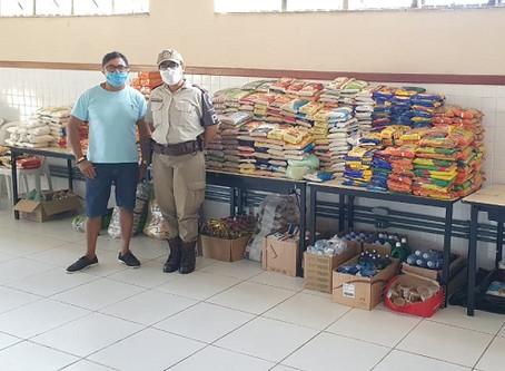 BCS Uruguai arrecada mais de uma tonelada de alimentos