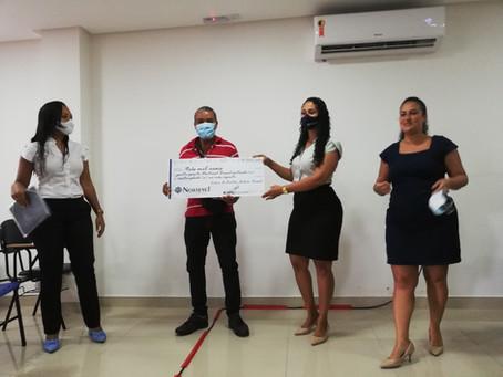 Mais um sorteado recebe seu cheque na Nortesul Brasil