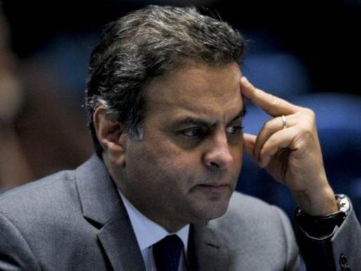 Justiça bloqueia R$ 128 milhões do deputado Aécio Neves por propina.