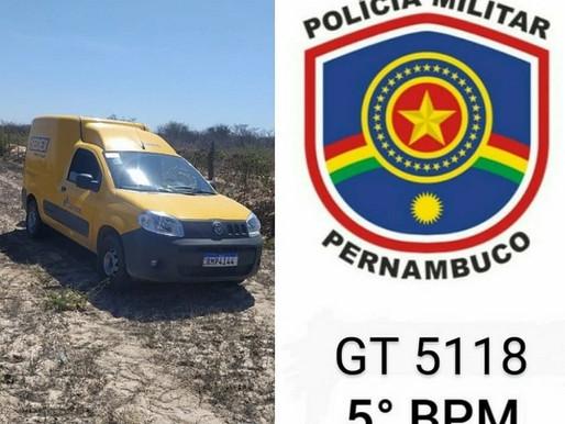 5º BPM recupera veículo dos Correios roubado em Petrolina