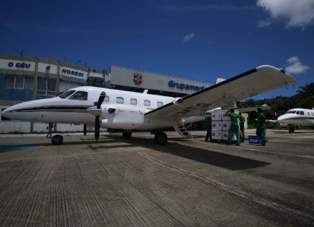 Aeronaves do Estado transportam 298 mil doses de vacinas