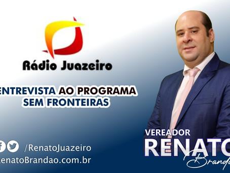 Vereador Renato Brandão abre o jogo em rádio de Juazeiro