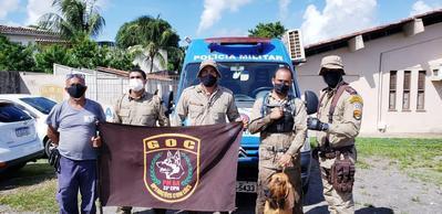 Cães da 33ª CIPM localizam mulher desaparecida em manguezal