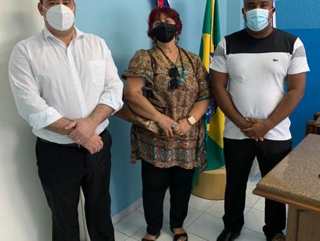 Renato Brandão recebe Professora e Historiadora para tratar sobre acervo histórico de Juazeiro