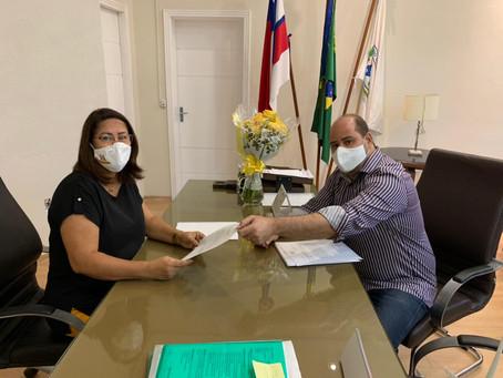 Vereador Renato Brandão e  Prefeita Suzana Ramos tratam sobre Zona Azul de Juazeiro
