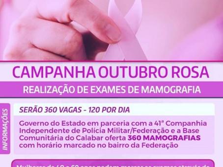 O mês de outubro é marcado pelas ações preventivas contra o câncer de mama e a 41ª Companhia Indepen
