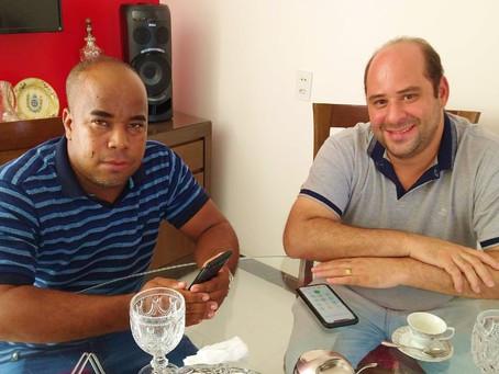 Renato Brandão e Berg da Carnaíba estreitam relação para composição da Mesa Diretora da Câmara