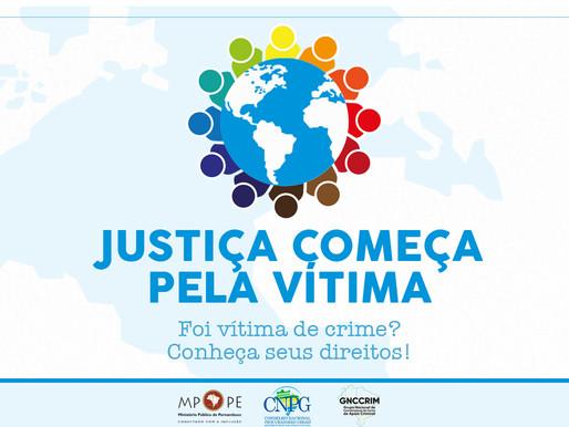 Campanha dos MPs em todo Brasil vai conscientizar vítimas sobre seus direitos e órgãos envolvidos