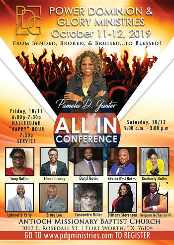 All In Conference 2019-conference flyer.