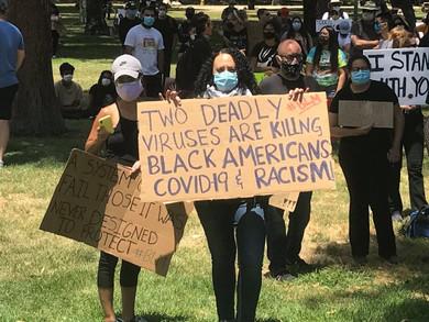"BLACK LIVES MATTER: TWO DEADLY VIRUSES ARE KILLING AMERICANS"""
