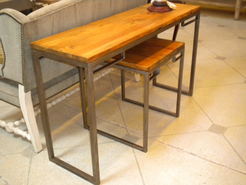 Industrial Console & Side Table