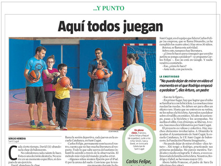 """Here everyone plays"" report from La Vanguardia newspaper"