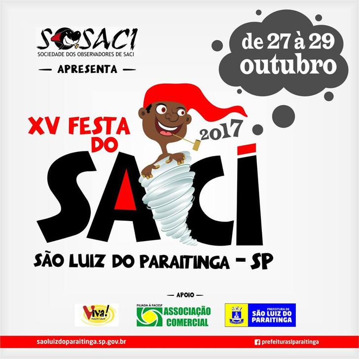 15º Festa do Saci e Seus Amigos - de 27 a 29 de Outubro de 2017