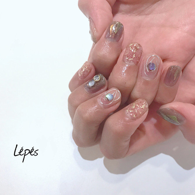 see-through nails
