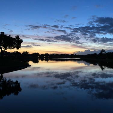 Sunset At The Florida Club Lakes