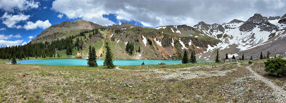 Hiking the Blue Lake Trail in Colorado, United states of America