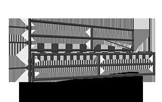 400, 500, 600 Series Split Corral Gates