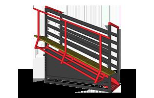 Loading Chute Handling Assembly ANGLED -