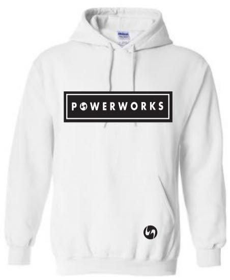 White POWERWORKS Hoodie