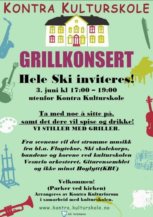 Grillkonsert i Ski
