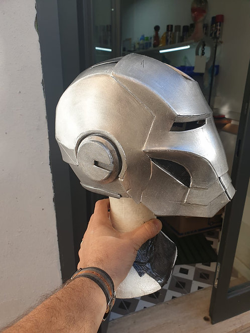 Iron Man Silver Helmet