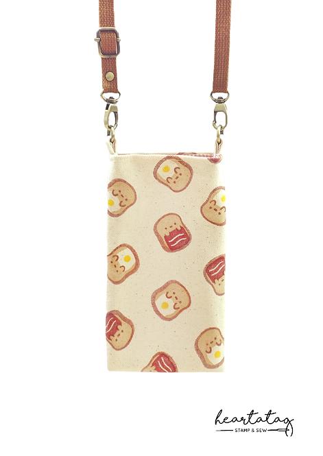 Egg & Bacon Toast Gaigai Sling Pouch