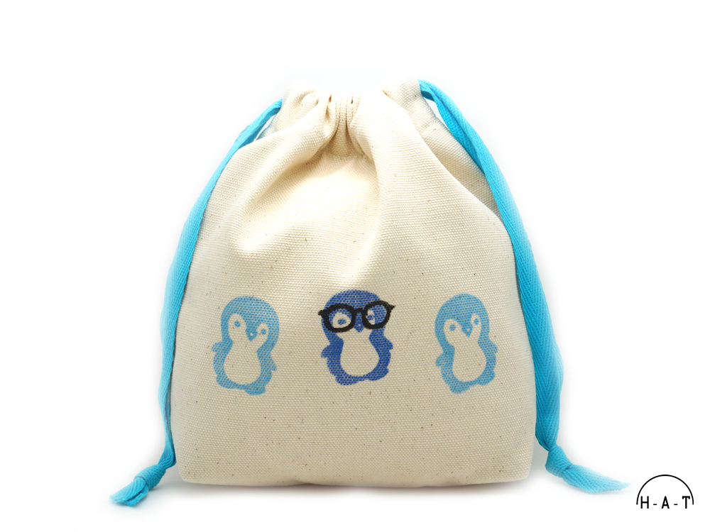 geeky glasses penguin blue DS oats