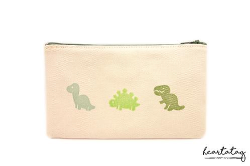 Three Green Dinosaurs