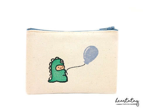 Dino Baby's blue balloon