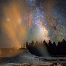 Castle Geyser Milky Way