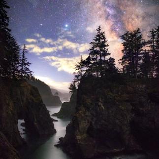 Natural Bridges Oregon Milky Way