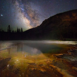 Milky way and Emerald Pool