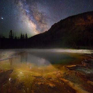 Milky Way Over Emerald Pool