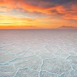 Sunset Bonneville Salt Flats