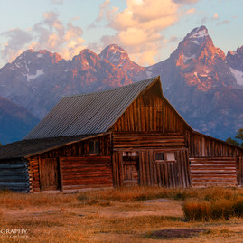 Moulton Barn Grand Tetons Sunrise