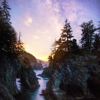 Twilight over Oregons Coast