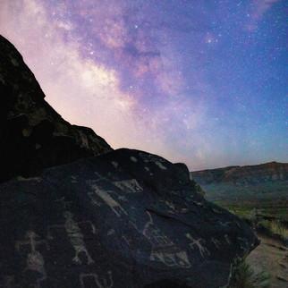 Anasazi Petroglyph Milky Way