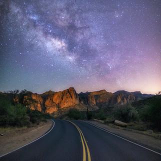 Milky Way Saguaro Lake