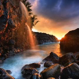 Queens Bath Sunset
