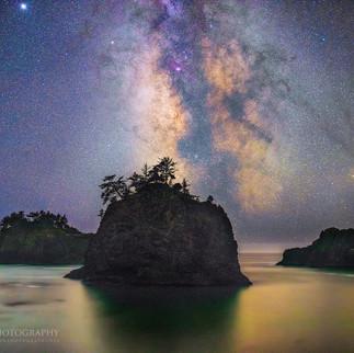 Secret Beach Oregon Milky way