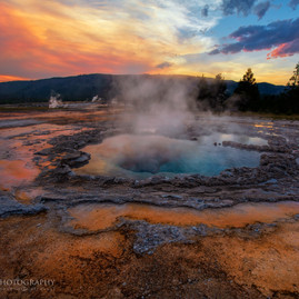 Sunset Blue Geyser