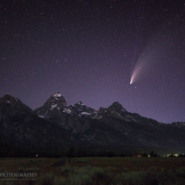 Comet NEOWISE Grand Tetons National Park