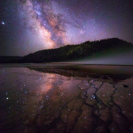 Milky Way Reflection Yellowstone