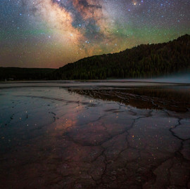 Grand Prismatic Spring Milky Way