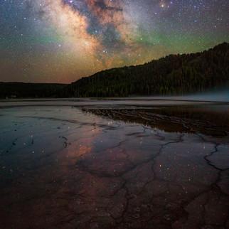 Grand Prismatic Spring Milky Way